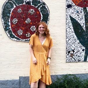 Yellow Midi Floral Dress from Target